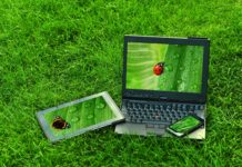 gadgets in the grass